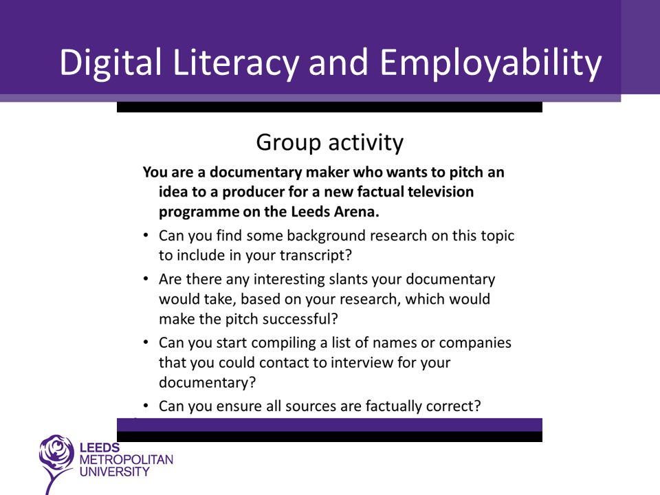 Digital Literacy and Employability
