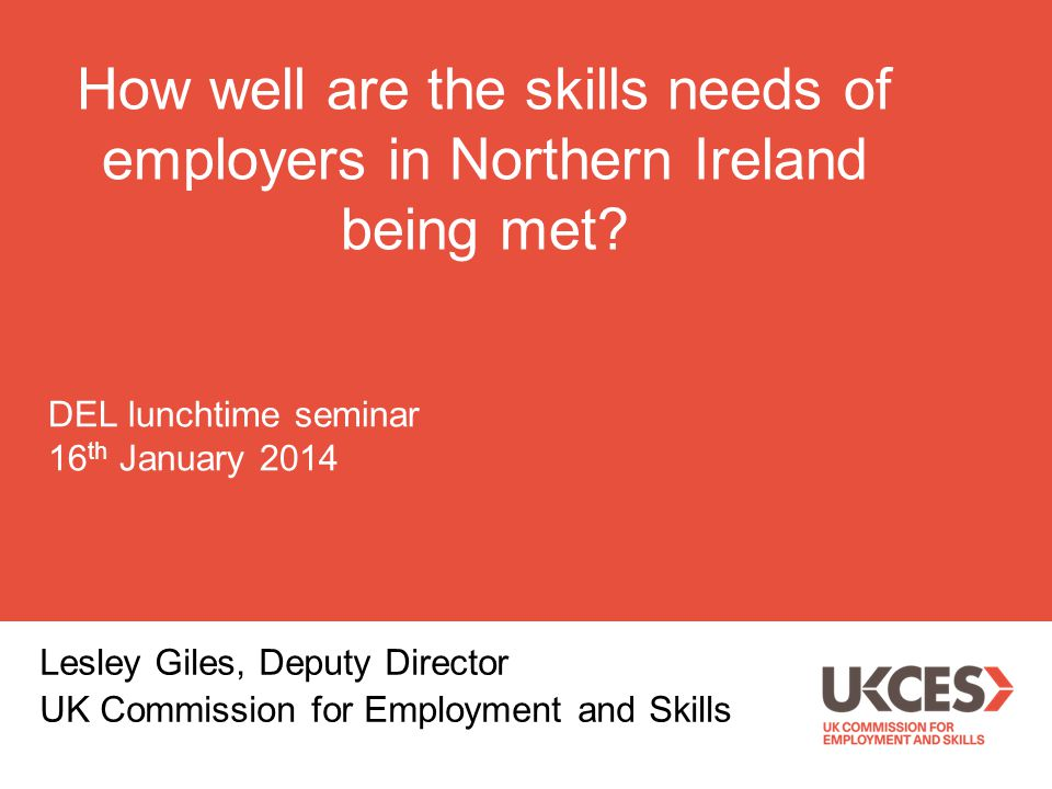 How well are the skills needs of employers in Northern Ireland being met.