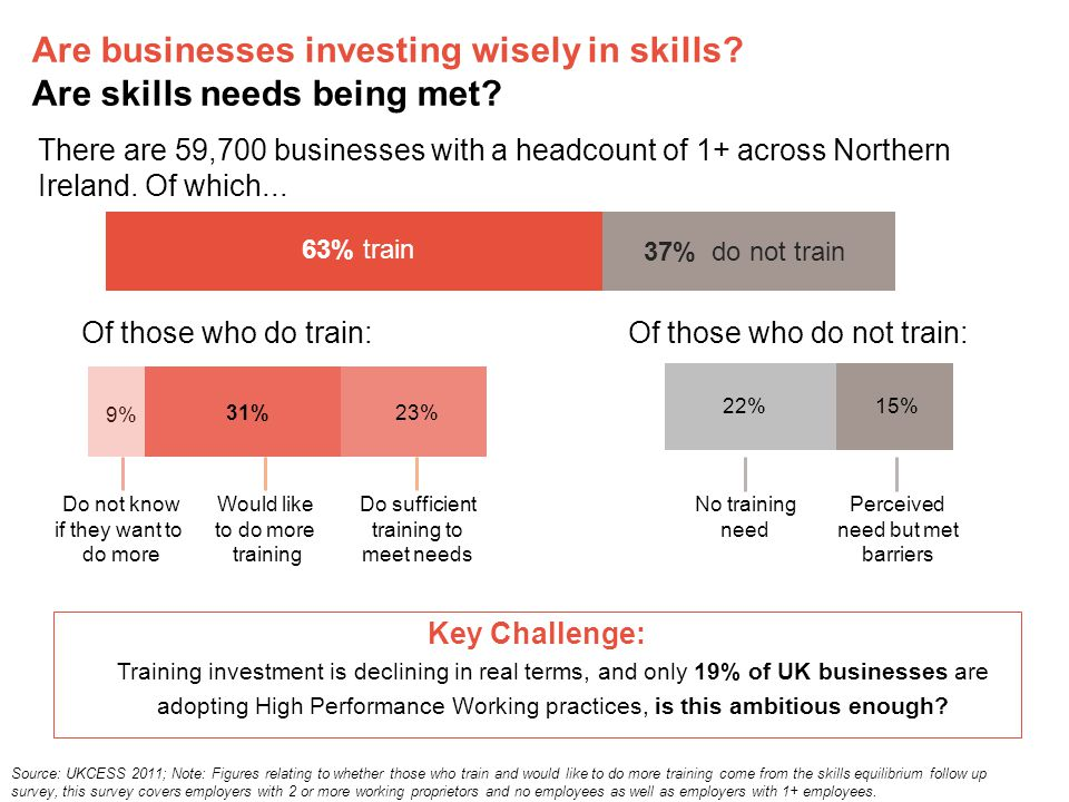 Are businesses investing wisely in skills. Are skills needs being met.