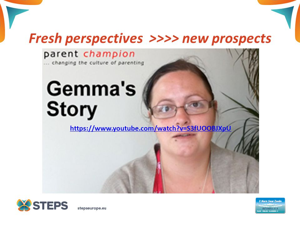 Fresh perspectives >>>> new prospects https://www.youtube.com/watch v=S3fUOOBJXpU