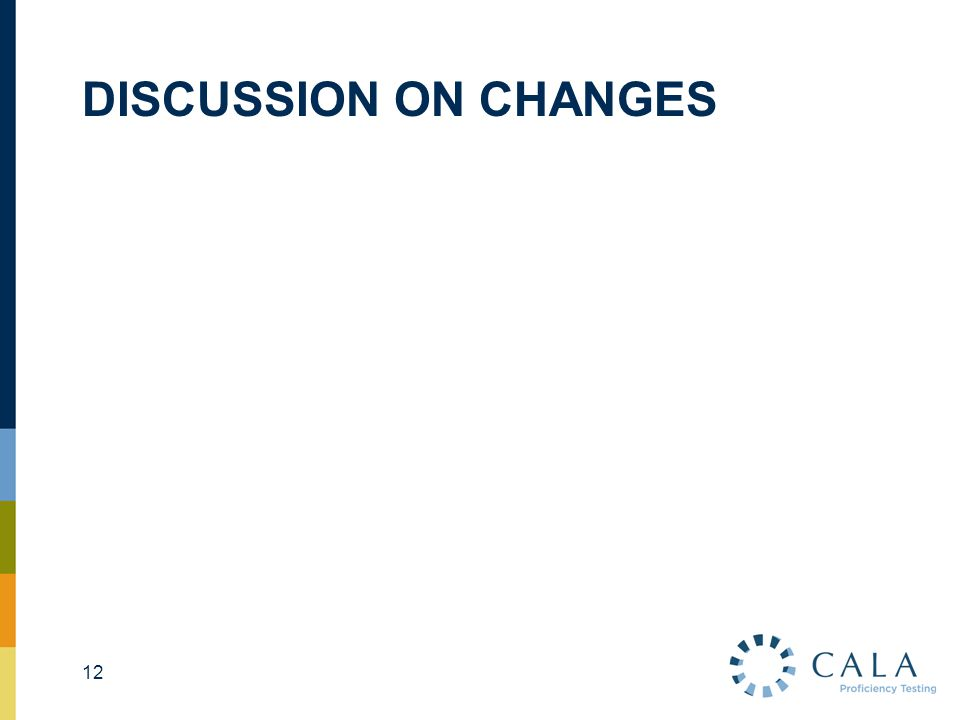 DISCUSSION ON CHANGES 12