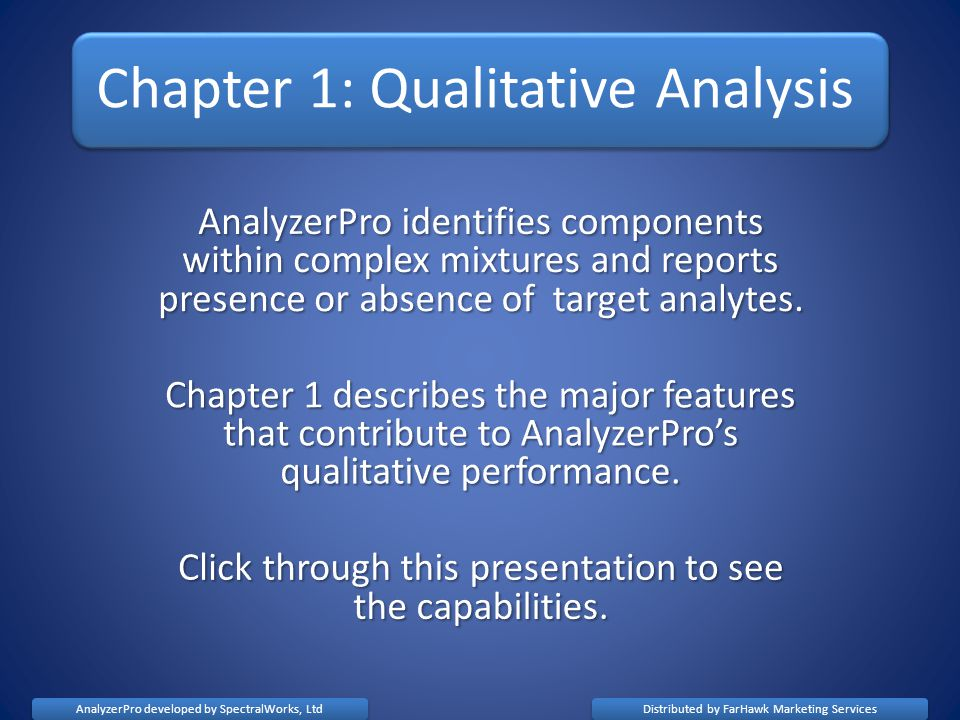Chapter 1: Qualitative Analysis