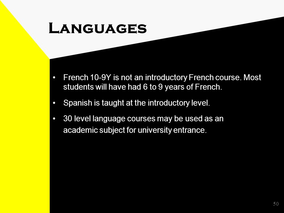 50 Languages French 10-9Y is not an introductory French course.