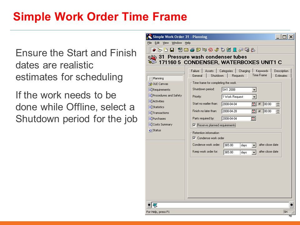 converting an emergency work order to a simple work order university