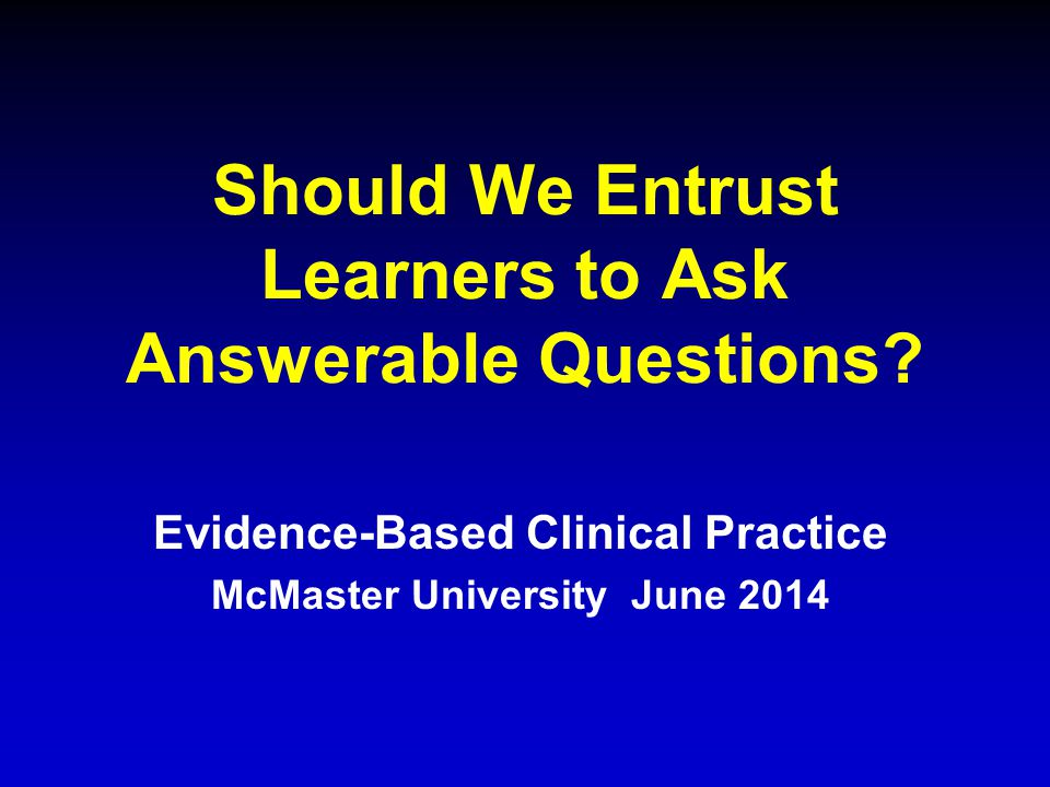 Should We Entrust Learners to Ask Answerable Questions.