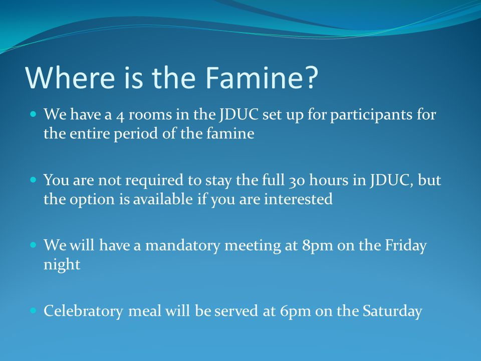 Where is the Famine.