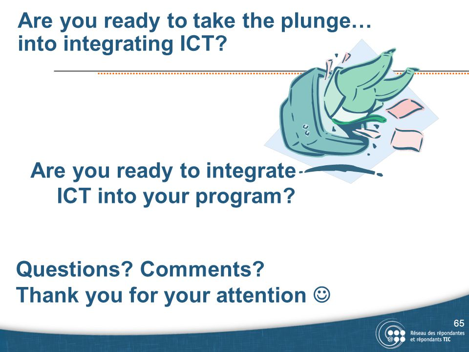 Are you ready to take the plunge… into integrating ICT.