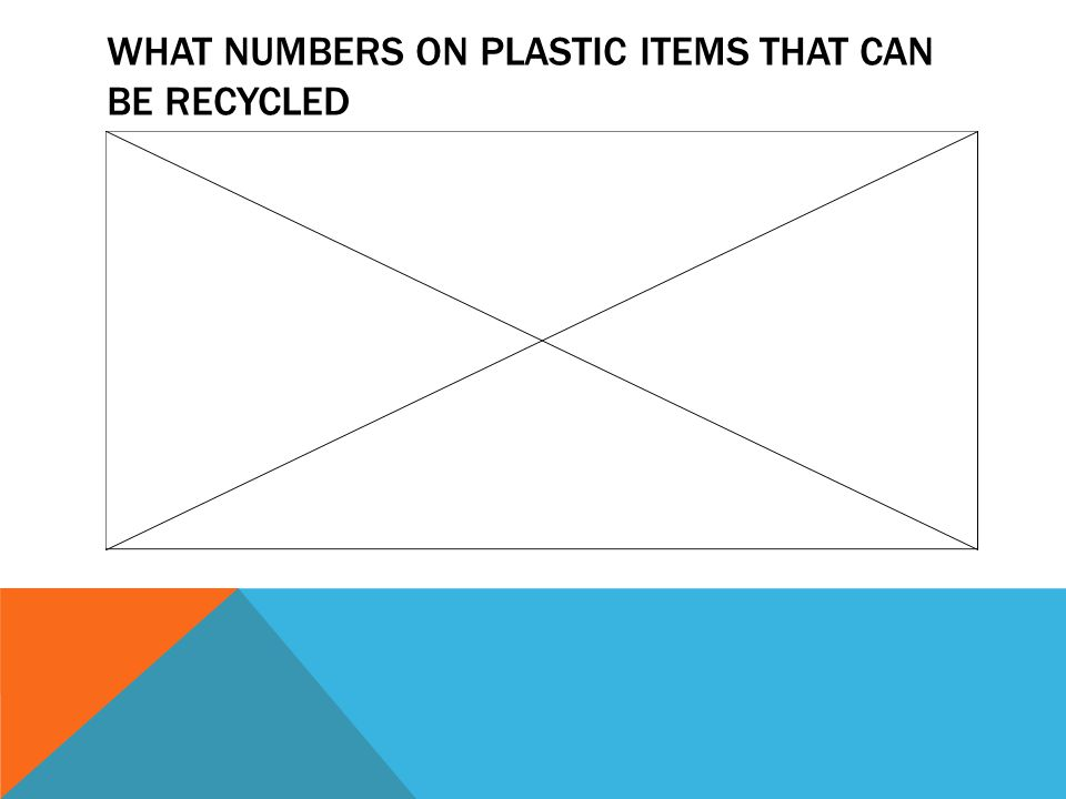 WHAT NUMBERS ON PLASTIC ITEMS THAT CAN BE RECYCLED