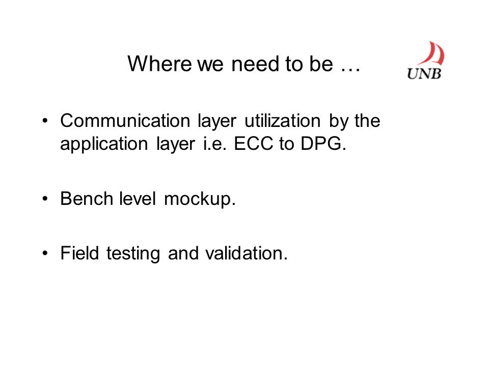 Where we need to be … Communication layer utilization by the application layer i.e.