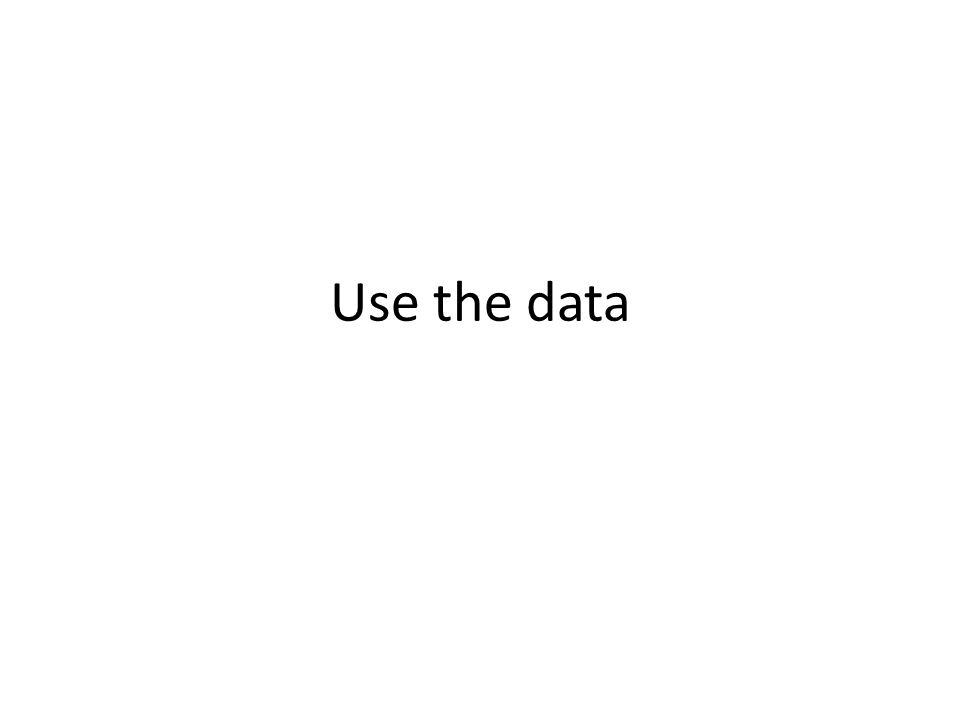 Use the data