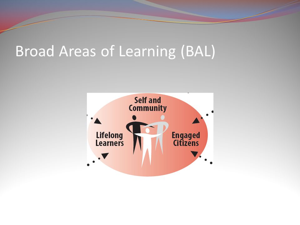 Broad Areas of Learning (BAL)
