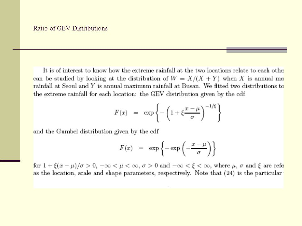 Ratio of GEV Distributions