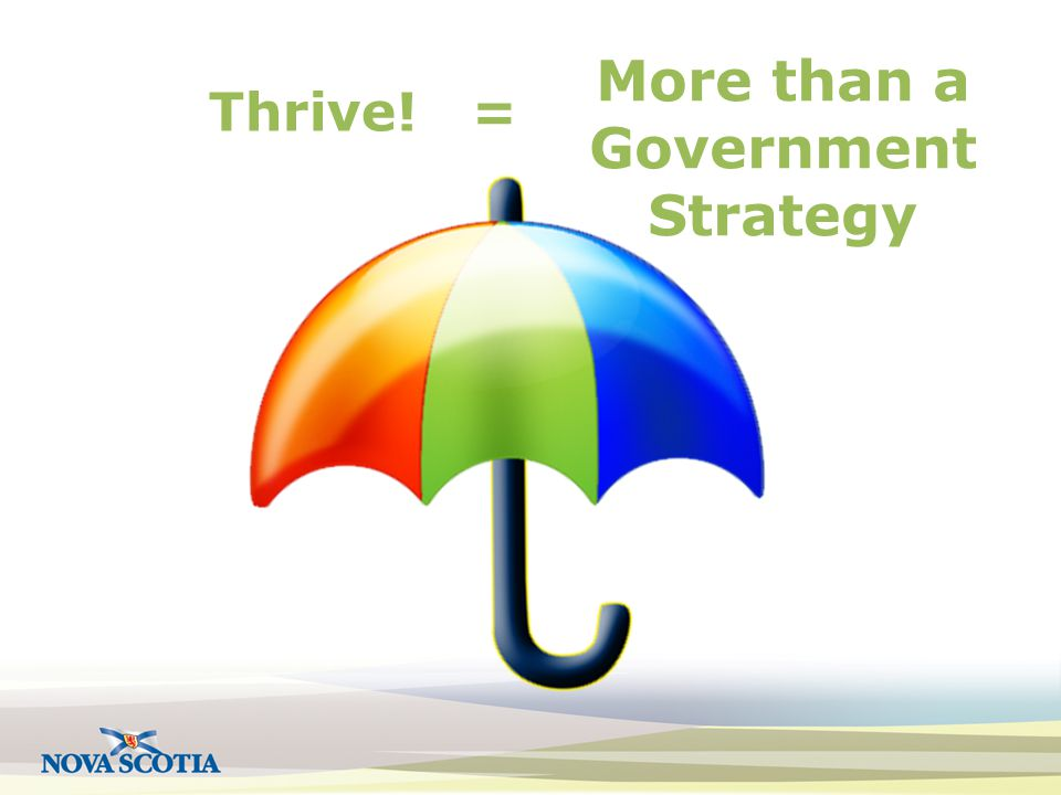 Thrive! = More than a Government Strategy