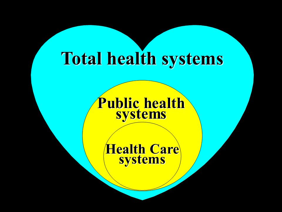 21 Total health systems Public health systems Health Care systems