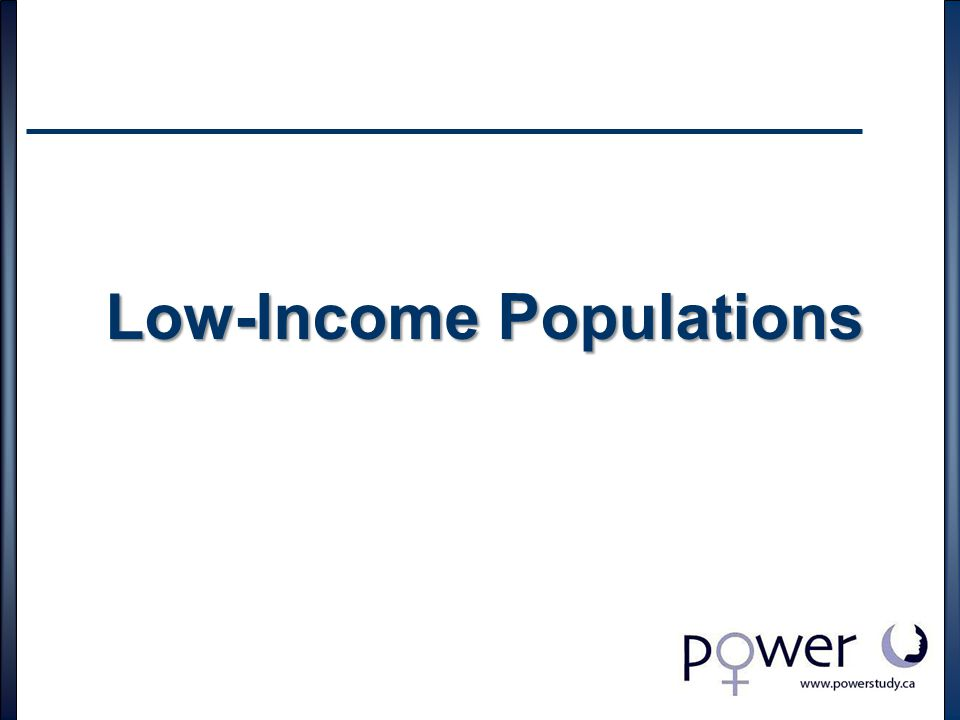 Low-Income Populations