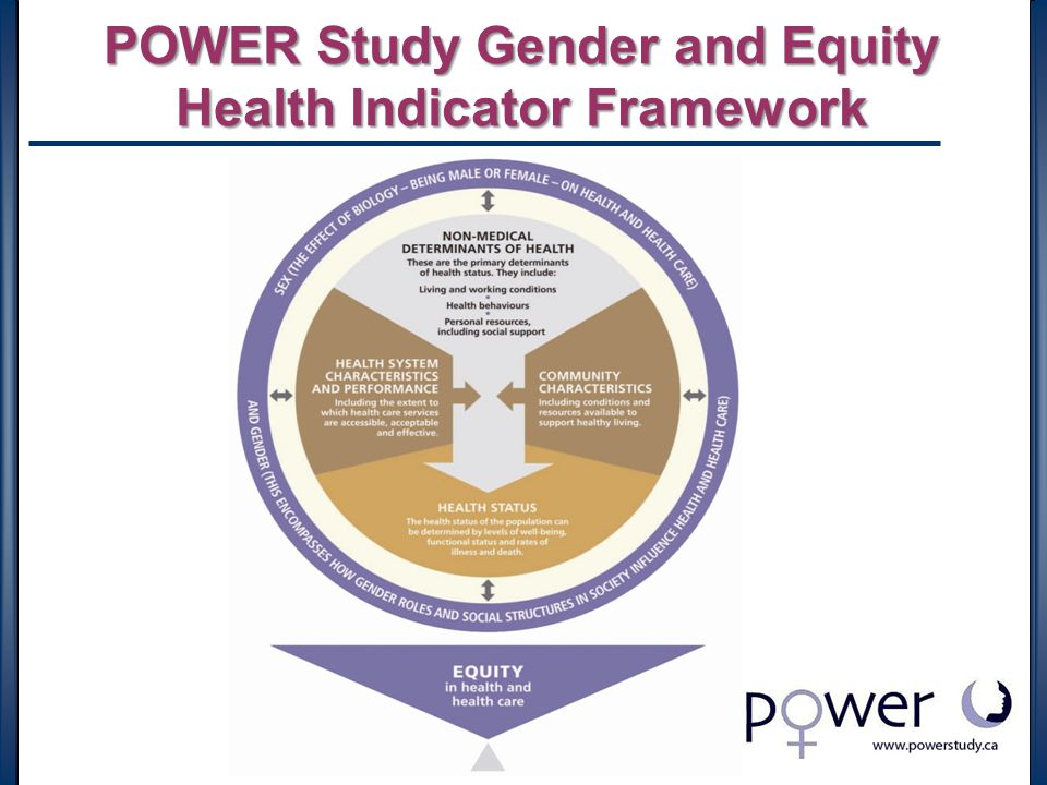 POWER Study Gender and Equity Health Indicator Framework