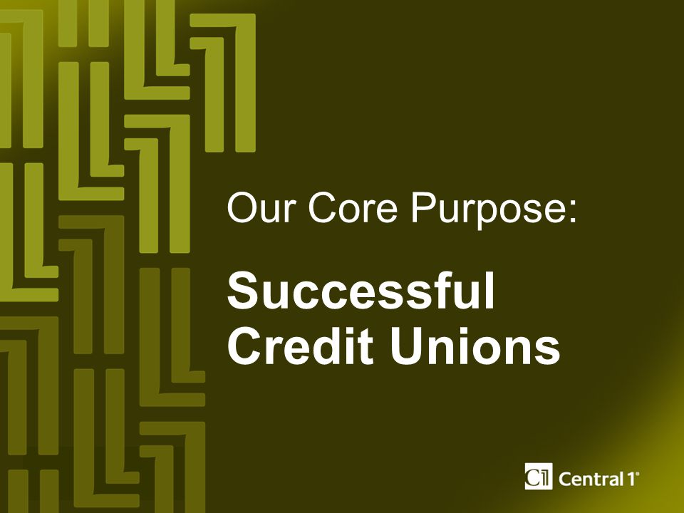 Our Core Purpose: Successful Credit Unions
