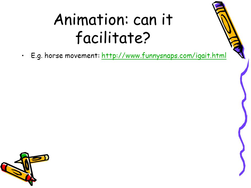 Animation: can it facilitate. E.g.