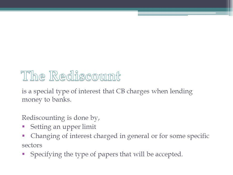 is a special type of interest that CB charges when lending money to banks.