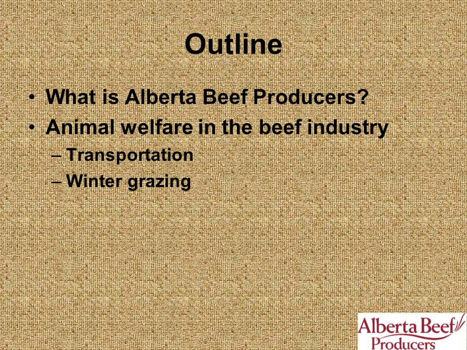 Outline What is Alberta Beef Producers.