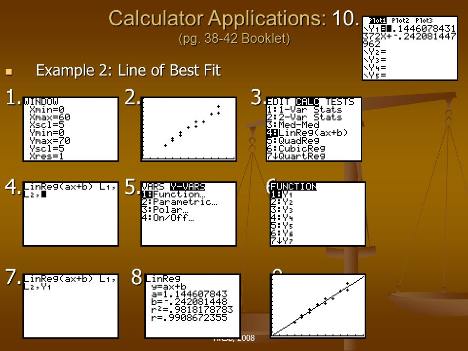 HRSB, 2008 Calculator Applications: 10. (pg.