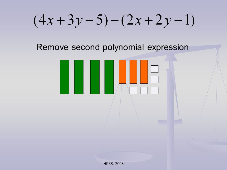 HRSB, 2008 Remove second polynomial expression