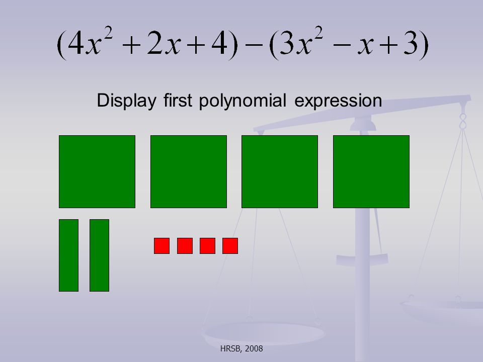 HRSB, 2008 Display first polynomial expression