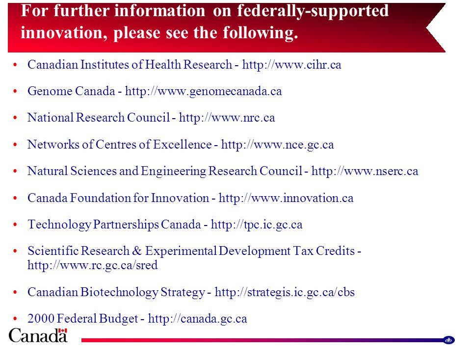 15 For further information on federally-supported innovation, please see the following.