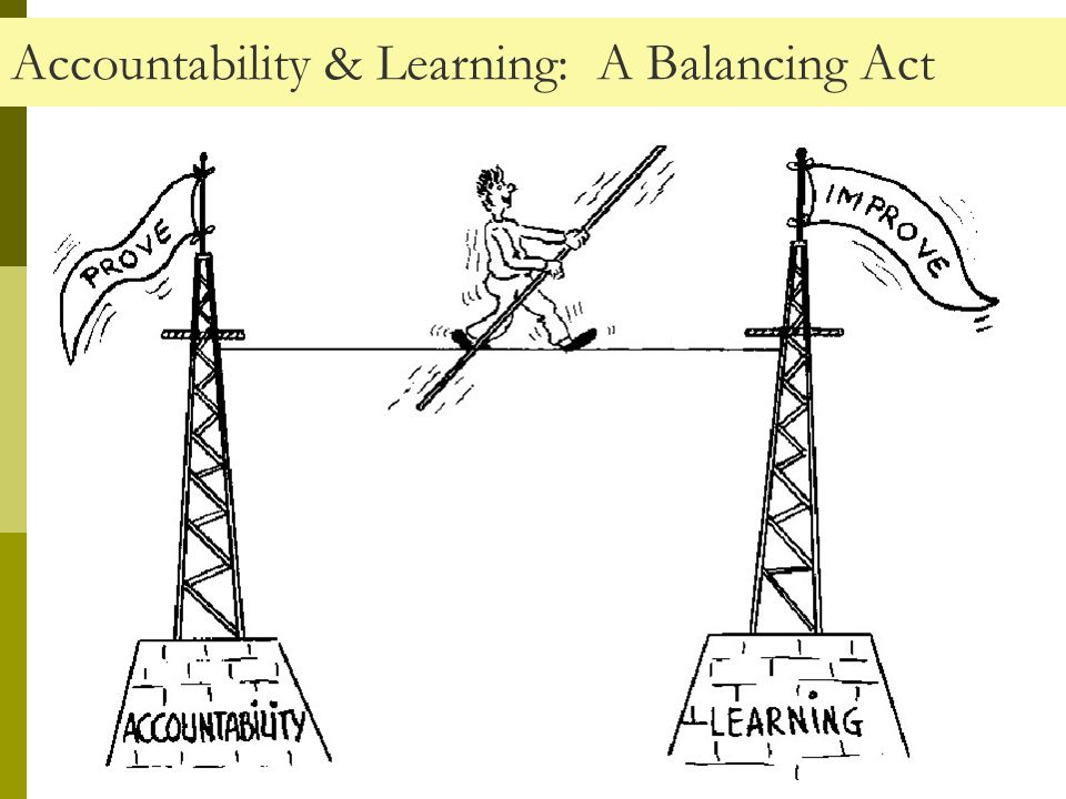 Accountability & Learning: A Balancing Act