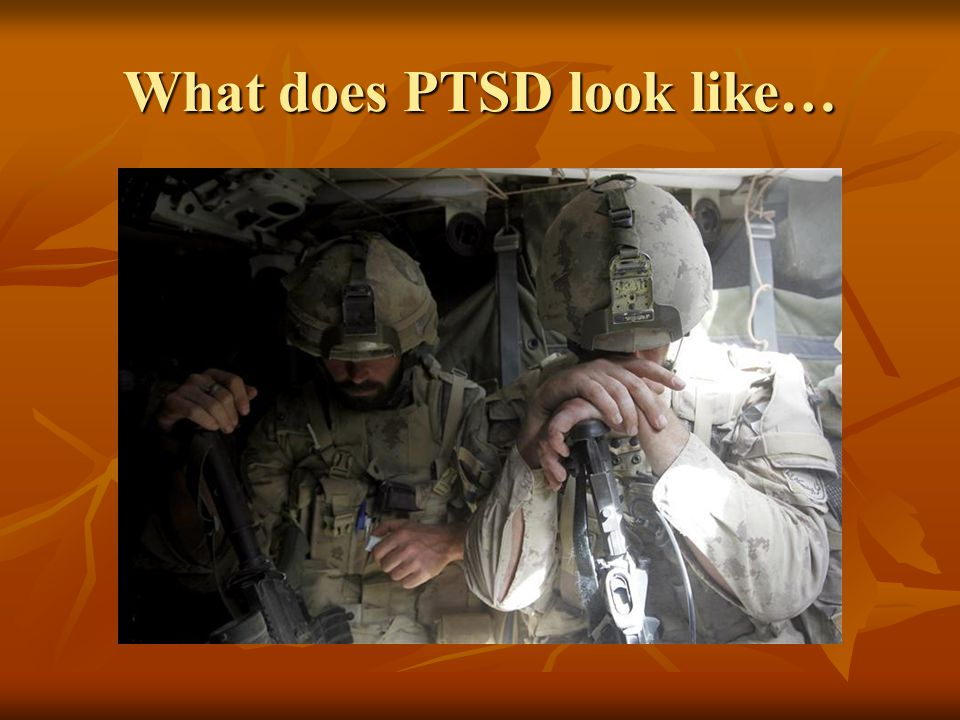 What does PTSD look like…