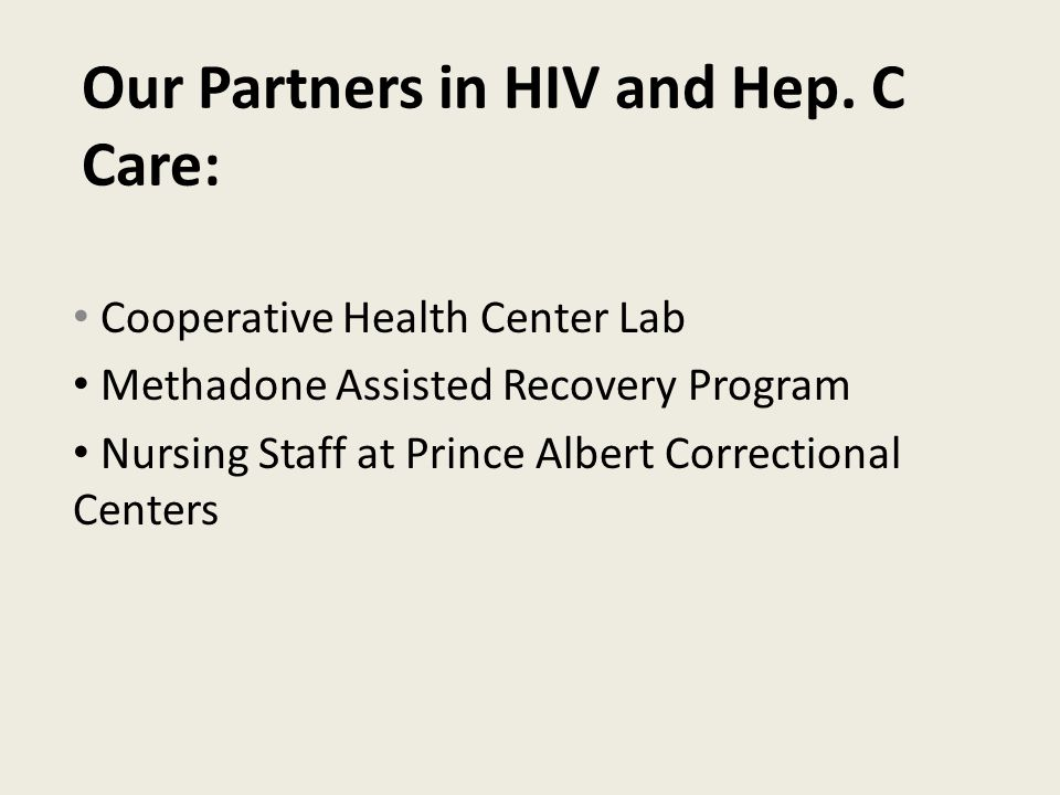 Our Partners in HIV and Hep.