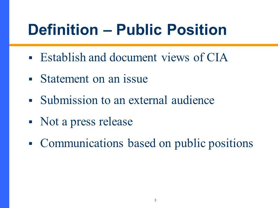 Influencing Public Policy Bob Howard President, CIA Canadian