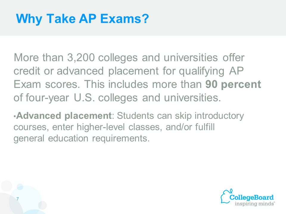 Why Take AP Exams.
