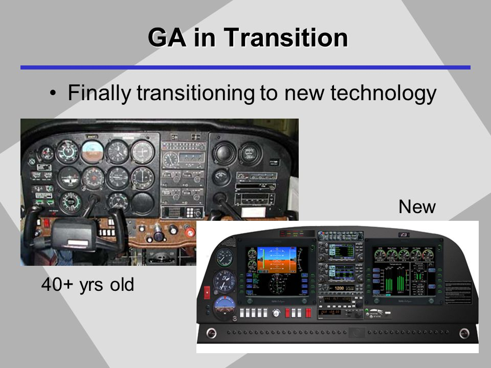 GA in Transition Finally transitioning to new technology 40+ yrs old New