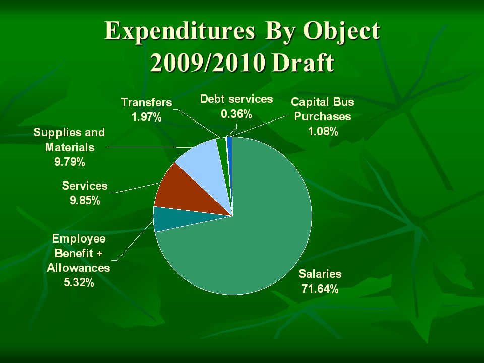 Expenditures By Object 2009/2010 Draft