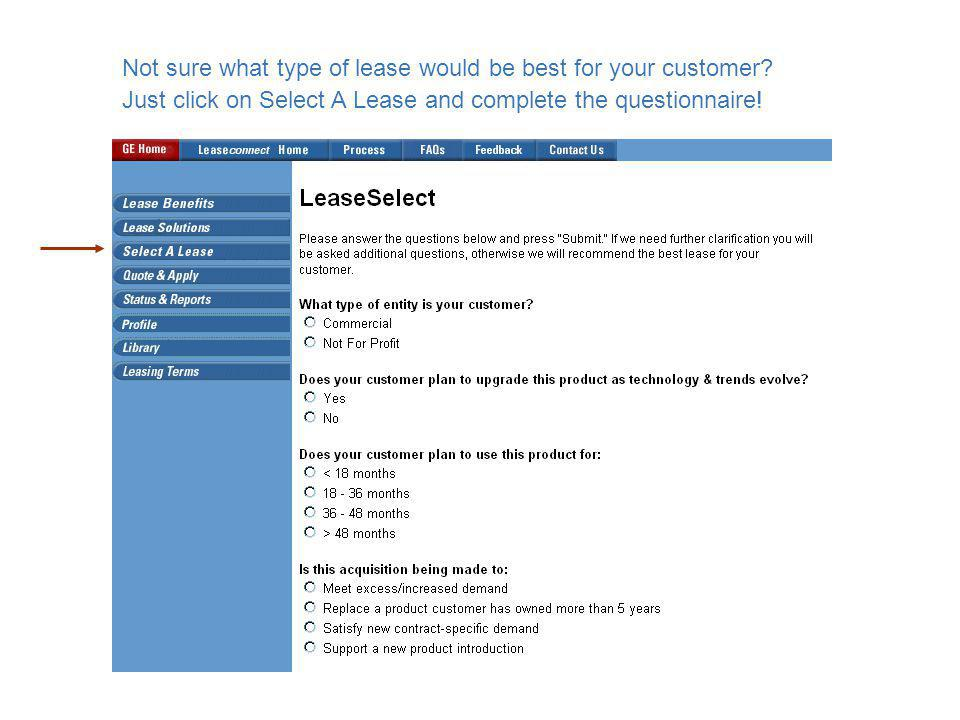 Not sure what type of lease would be best for your customer.