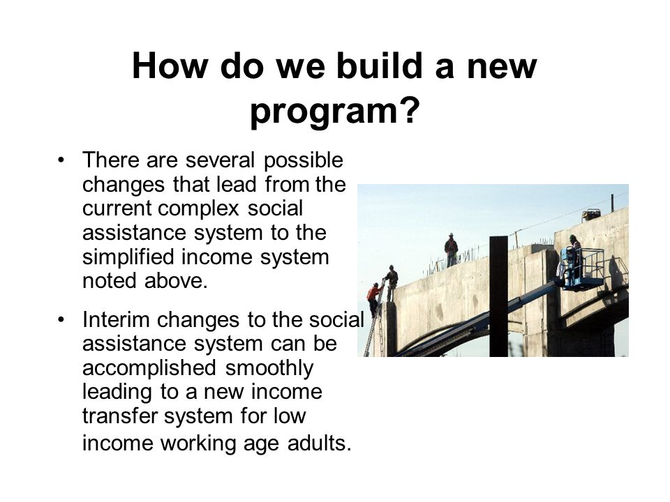 How do we build a new program.