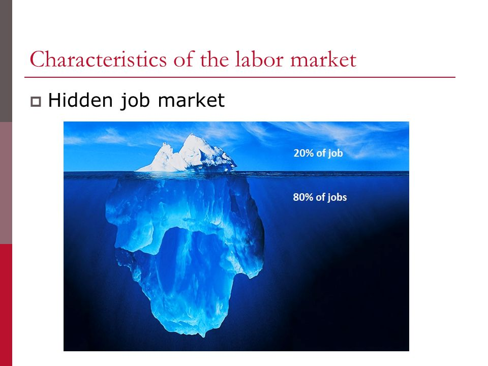 Characteristics of the labor market  Hidden job market
