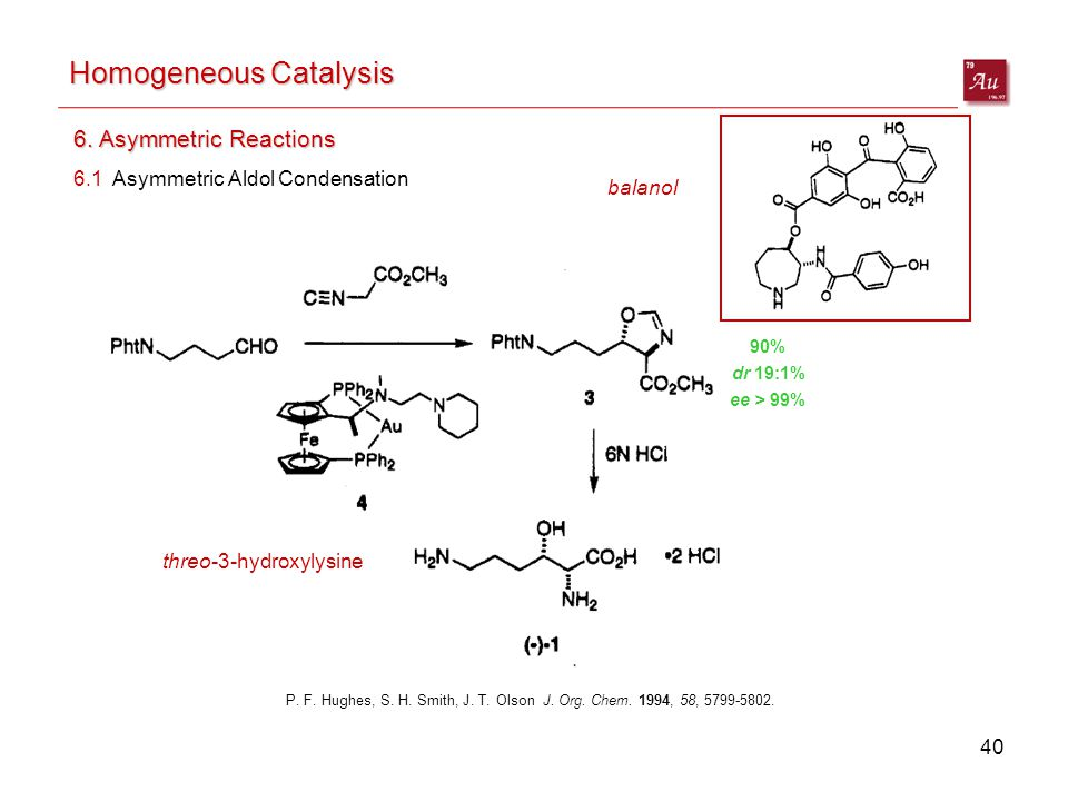 40 Homogeneous Catalysis 6. Asymmetric Reactions P.