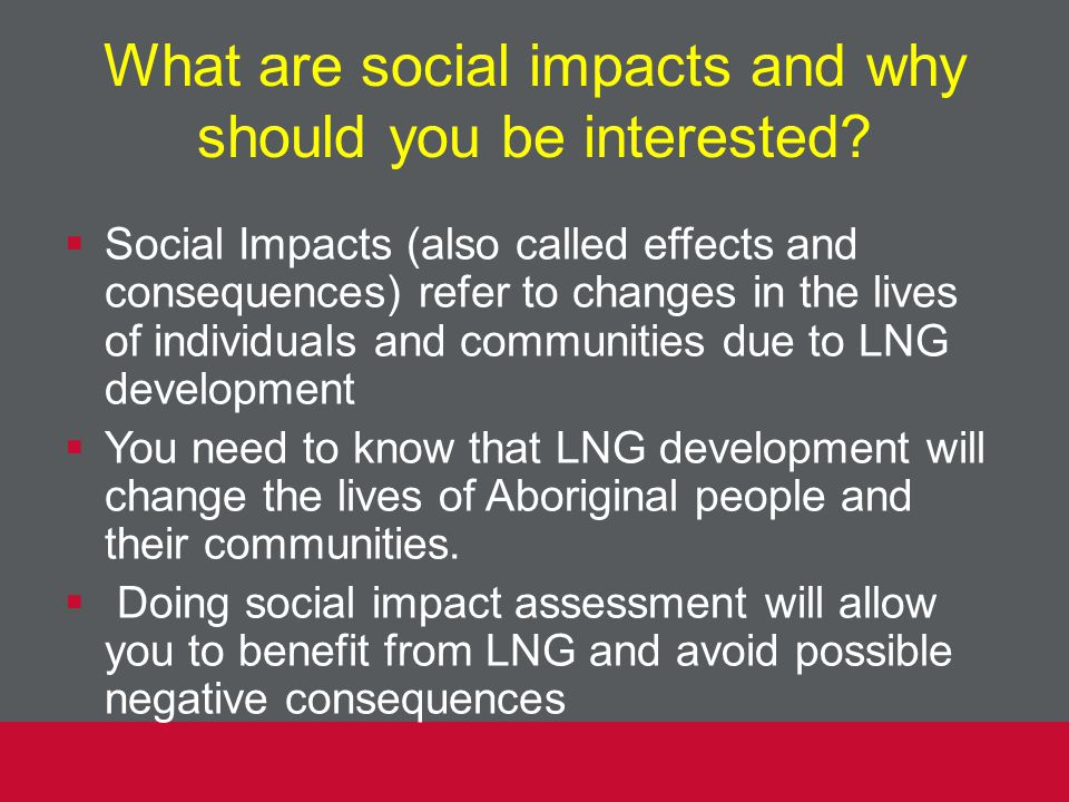 What are social impacts and why should you be interested.