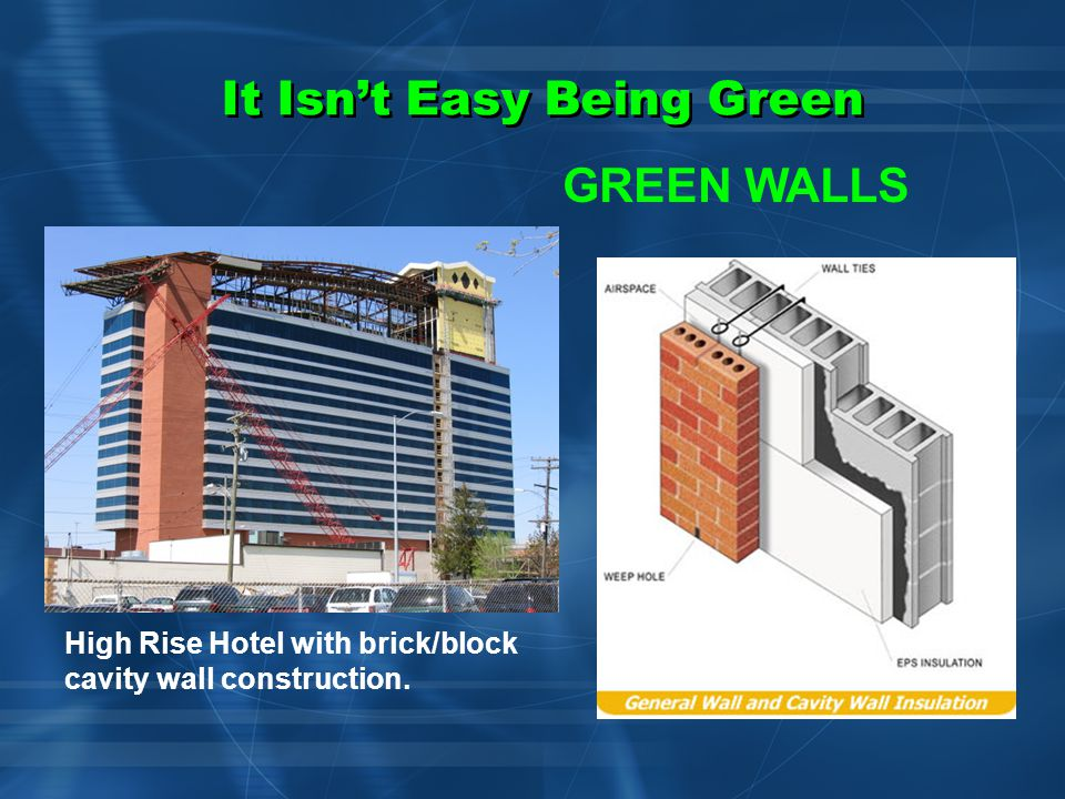 It Isn't Easy Being Green GREEN WALLS Exterior Insulation Finishing System (EIFS) on One Park Tower condominium project in Mississauga, Ontario.