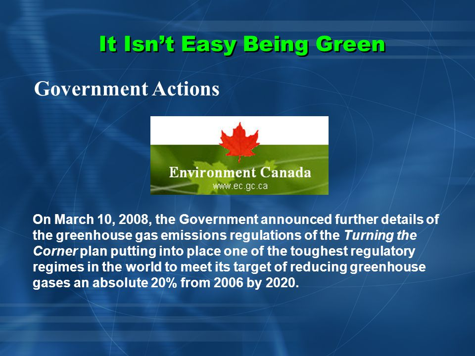 It Isn't Easy Being Green SO WHAT IS THE HAZARD Beware of the Dark Side of Green Technologies