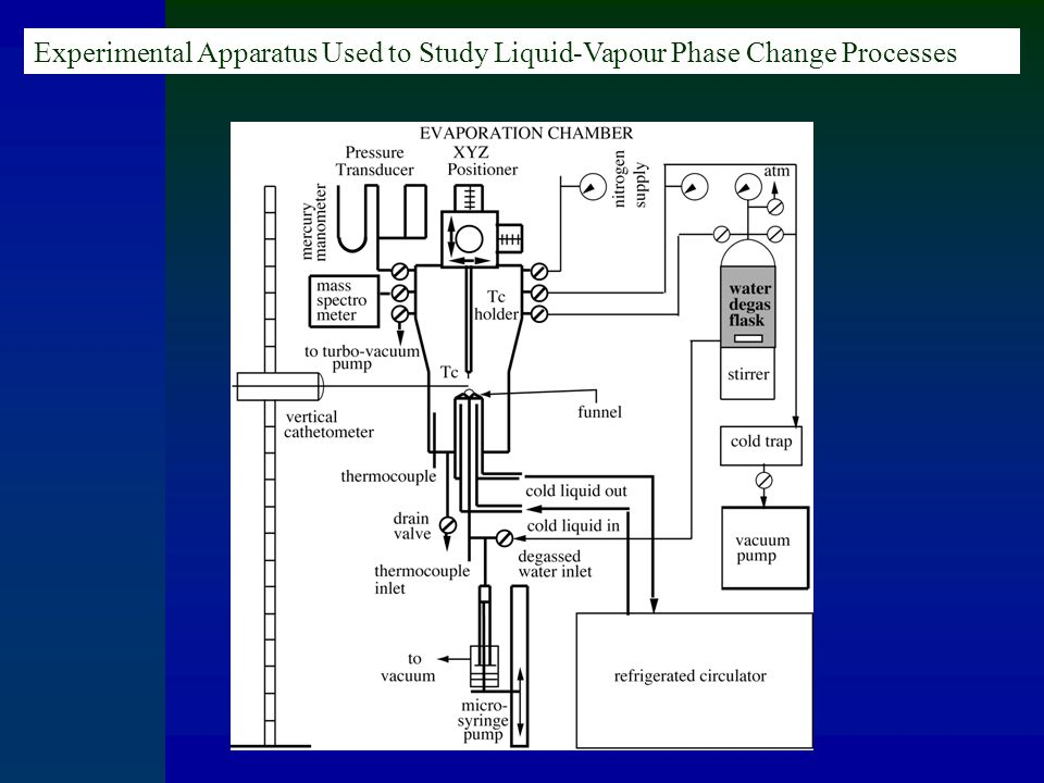 Experimental Apparatus Used to Study Liquid-Vapour Phase Change Processes