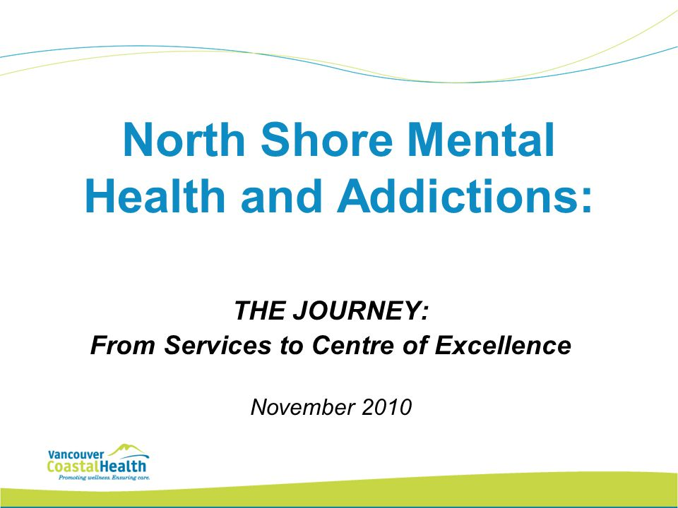 North Shore Mental Health and Addictions: THE JOURNEY: From Services to Centre of Excellence November 2010