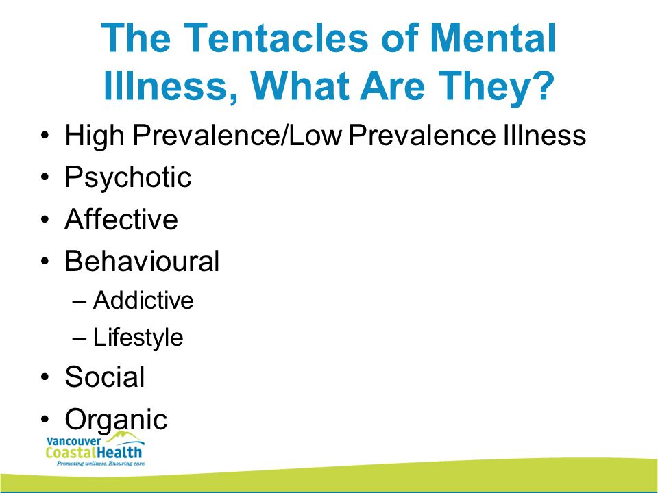 The Tentacles of Mental Illness, What Are They.