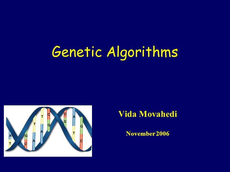 Genetic Algorithms Vida Movahedi November 2006