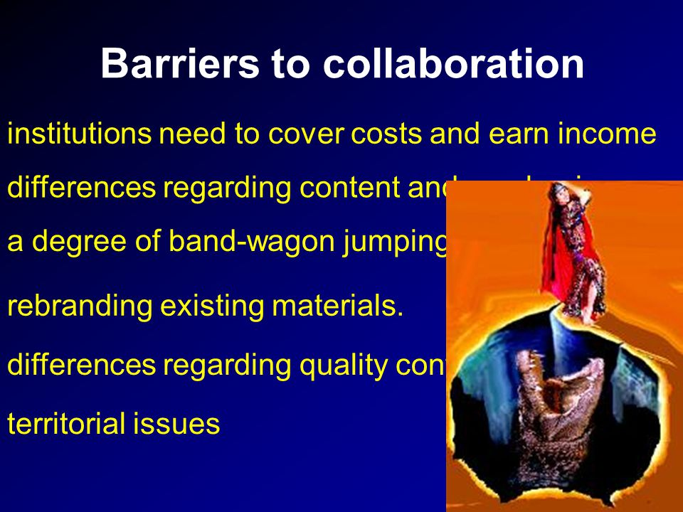 Barriers to collaboration rebranding existing materials.