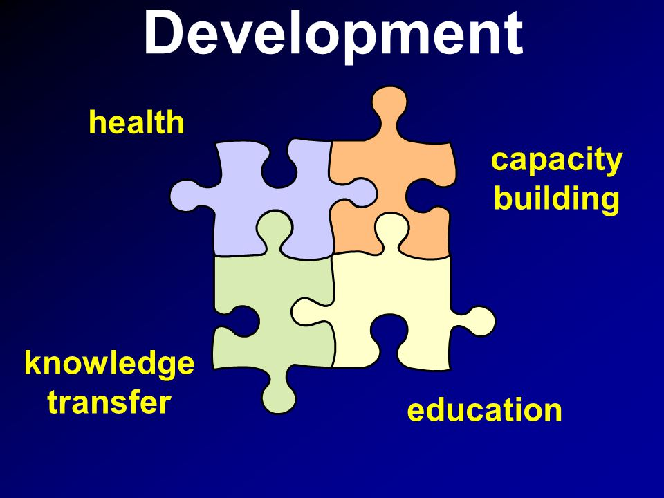 Development health capacity building education knowledge transfer