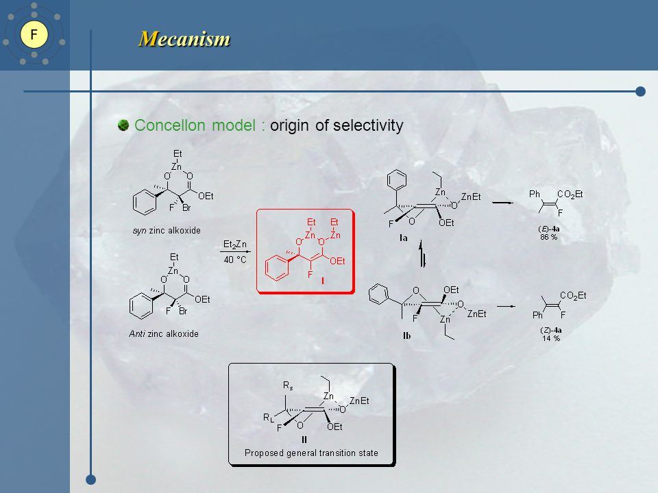 Mecanism Concellon model : origin of selectivity