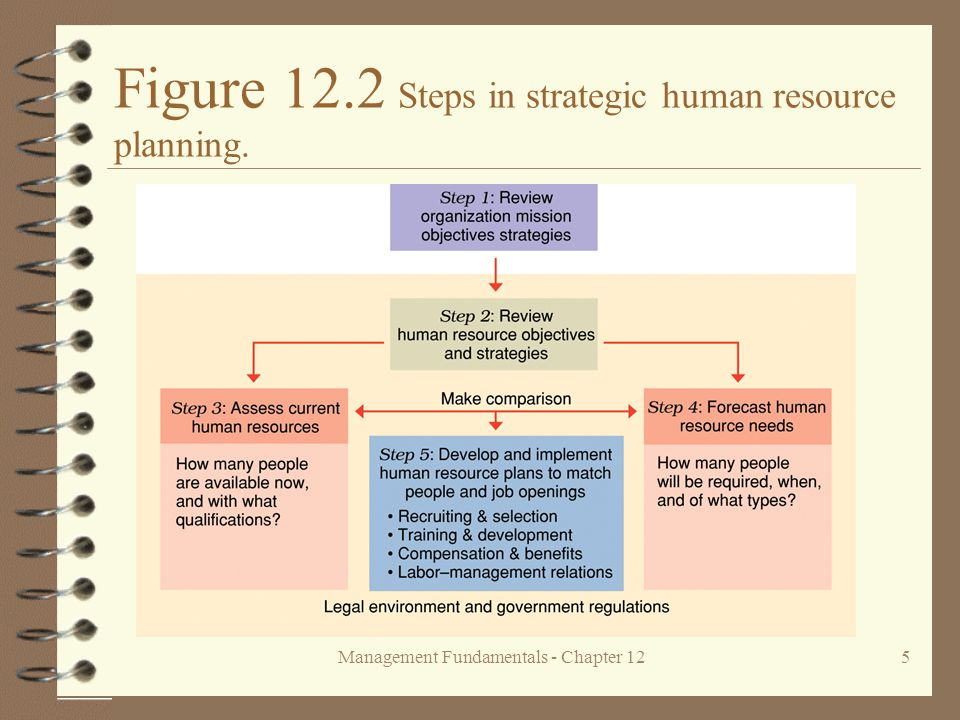 Management Fundamentals - Chapter 125 Figure 12.2 Steps in strategic human resource planning.